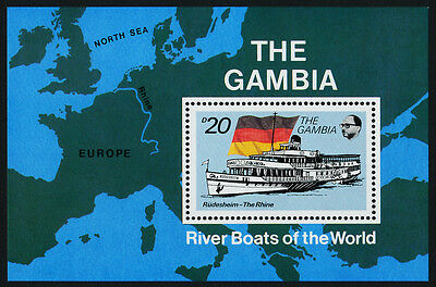 Gambia 1263 MNH Riverboat, Flag, Map