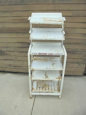 vintage metal store display rack enjoy hostess cake always fresh bakery display