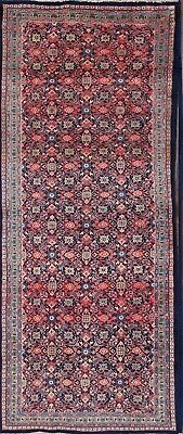 """All-Over Pattern Navy/Pink Runner 4x11 Mahal Persian Oriental Rug 10' 8"""" x 4' 5"""""""