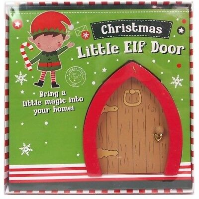 Christmas elf fairy door wreath postbox santa sprinkles for Elf door decoration