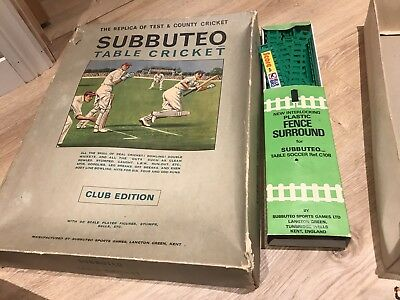 Vintage Subbuteo Cricket Boxed Set