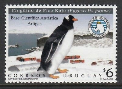 URUGUAY (9703) 1997 Antarctic base  Birds  Oiseaux  Vogel  Uccello  Aves  MNH