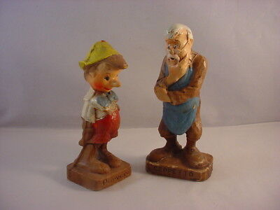 Vintage Pair Walt Disney Productions Pinocchio & Geppetto Figurines