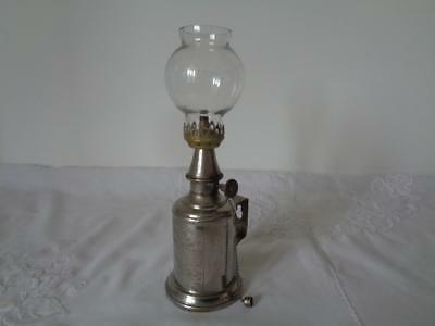 Rare Retro Pigeon Lamp Vintage Metal Paraffin Glass Shade French Vintner + cap