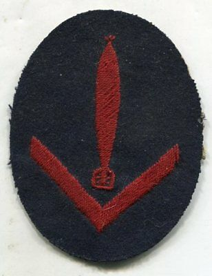ORIGINAL WWII German Navy/Kriegsmarine Specialist Patch w/Rank Torpedo NO GLOW!