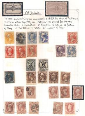 25158 USA OFFICIAL STAMPS selection War Navy Army Dept Treasury PO Dept Sealed