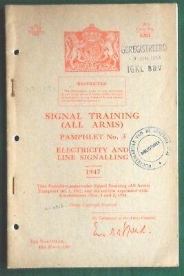 Electrical Signal Training Manual 1947
