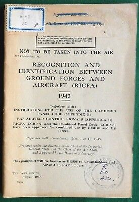 Manual Of Signalling To Aircraft Codes & Signs 1945 Rigfa