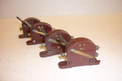 4 x HORNBY DUBLO LEVER SWITCH - RED 1613,                                      o