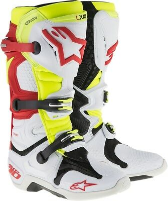 Alpinestars Tech 10 Offroad Boot 10 Red/White/Yellow 2010014-236-10