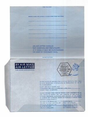 AIRMAIL AIR LETTER  BFPS  services.  1980  unused