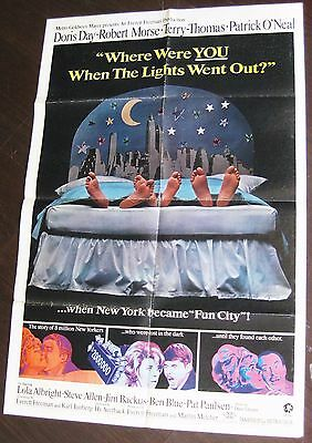 Where Were You When The Lights Went Out? 1965 Doris Day Terry-Thomas US Poster