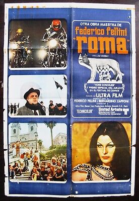 Fellini's Roma 1972 Original Argentinian Movie Poster