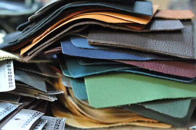 """Leather Swatch, Larp, Remnant, Scrap, Any Colour 7"""" X 7"""" Genuine Hide Suede New"""