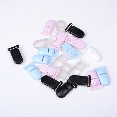 5pc Plastic Suspender Soother T-Shaped Pacifier Bib Holder Nipples Dummy Clips==