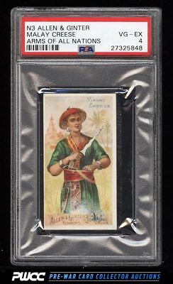 1887 N3 Allen & Ginter Arms Of All Nations Malay Creese PSA 4 VGEX (PWCC)