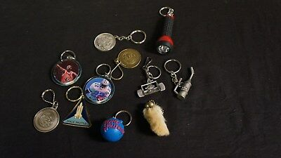 Lot of 11 Keyrings JORDAN E SMITH VTG 42 OIL CAN RACECAR RABBITS FOOT ENVDEAVOR