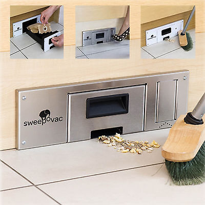 SWEEPOVAC Kitchen Plinth Vacuum Cleaner with Kick Switch Stainless Steel Effect