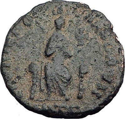 EUDOXIA Arcadius Wife 400AD Authentic Ancient Roman Coin HAND OF GOD i64796