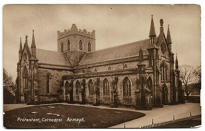 [3942] Armagh R/P Postcard Protestant Cathedral Armagh