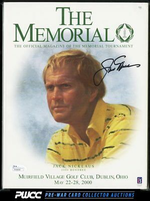 Arnold Palmer Signed Autographed '00 'The Memorial' Program AUTO, JSA COA (PWCC)