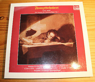 Trudelies LEONHARDT Schubert Sonatas for Pianoforte Vol.I 4-LP-Box JECKLIN