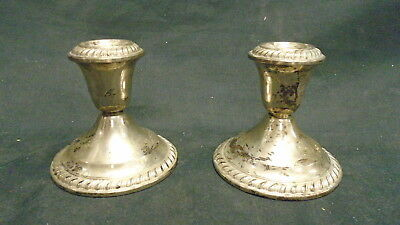 Gorham Weighted Sterling Candlesticks (3A)