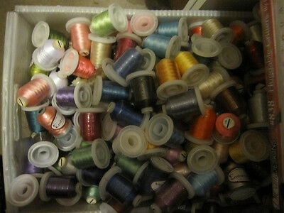 Lot of 50 Spools Polyester Embroidery Machine Thread MANY COLORS!!