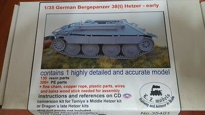 LZ models 35401 1:35;  Bergehetzer early conversion set für (Tamiya, Dragon)