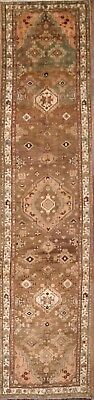 Palace Sized Antique Muted Runner 4x16 Hamedan Persian Oriental Rug 16' 1 x 3' 9