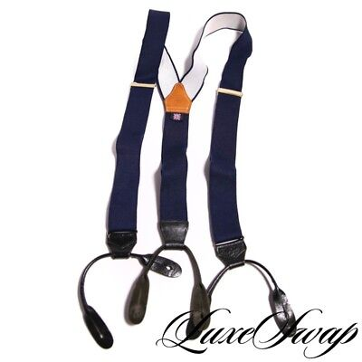 J. Press Made in England by Albert Thurston Blue Stretch Braces Suspenders TRAD