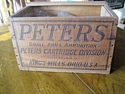 Vintage Peters Victor Shotgun shell box/crate wooden EXCELLENT NO RESERVE