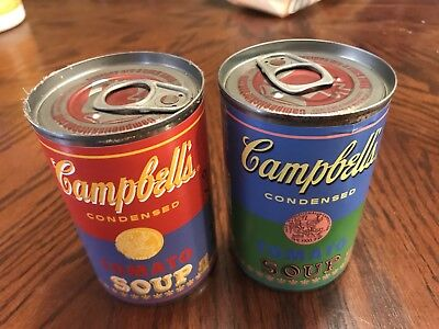 Andy Warhol Limited Edition Campbell'S Soup Cans, 2 Multi Colored Versions