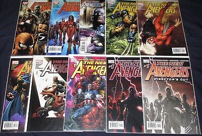 NEW AVENGERS #1-64 + Annuals #1,2,3 (NM-) 3 different #1's Marvel 2005 + 1 Shot