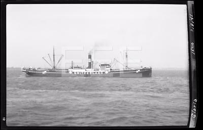 2/8/41 SS Gloria Switzerland Ocean Liner Ship Old Photo Negative 314i
