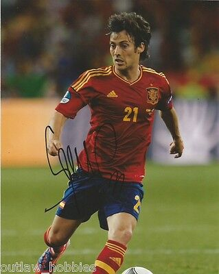 Spain David Silva Autographed Signed 8x10 Photo COA