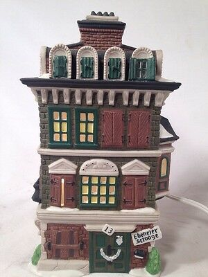 DEPT 56  DICKENS VILLAGE THE FLAT OF EBENEZER SCROOGE #55875 Lighted House