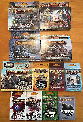 RPG GameMastery/Pathfinder Lot: Face Cards, Adventure Decks, Character Add-On+