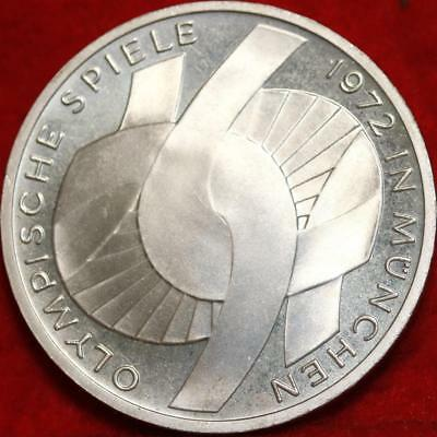 Uncirculated 1972-J Germany 10 Mark Foreign Silver Coin Free S/H