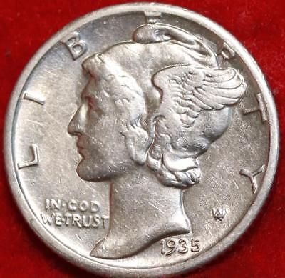 Uncirculated 1935-S San Francisco Mint Silver  Mercury Dime Free Shipping