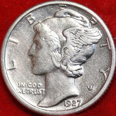Uncirculated 1927 Philadelphia Mint Silver Mercury Dime Free Shipping