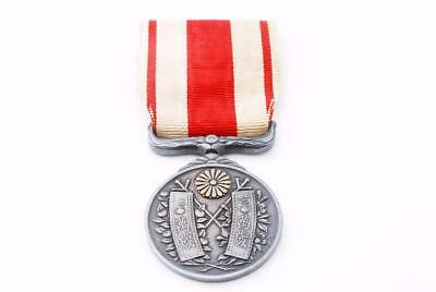 1915 Japanese Taisho Emperor Enthronement Medal Japan War Army Military Silver