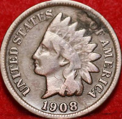 1908-S San Francisco Mint Copper Indian Head Cent Free Shipping