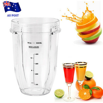 18OZ Clear Cup Replacement For Ninja Juicer Blender Mug Spare Part Brand New-AU