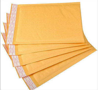 10 pcs Kraft Bubble Mailers Padded Envelopes Shipping Bags Choose Size & Pack