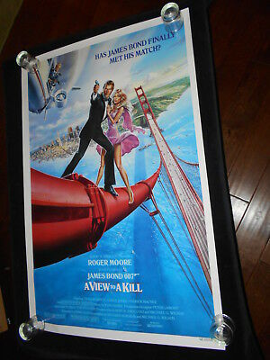 A View To A Kill  Original  Rolled One Sheet  Roger Moore  James Bond 007 Bridge