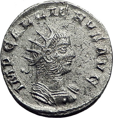 GALLIENUS 256AD Asian Mint GERMAN VICTORY Authentic Ancient Roman Coin i64821