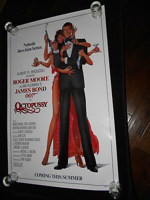 Octopussy James Bond 007 Roger Moore  Original Advance Rolled One Sheet Poster