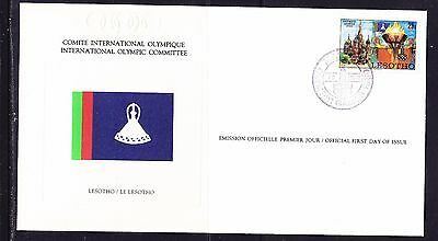 Lesotho  1980 - Olympic Committee EMBOSSED First Day Cover