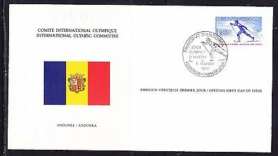 Andorra  1980 - Olympic Committee EMBOSSED First Day Cover